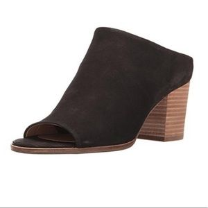Lucky Brand Organza Open Toe Black Mules